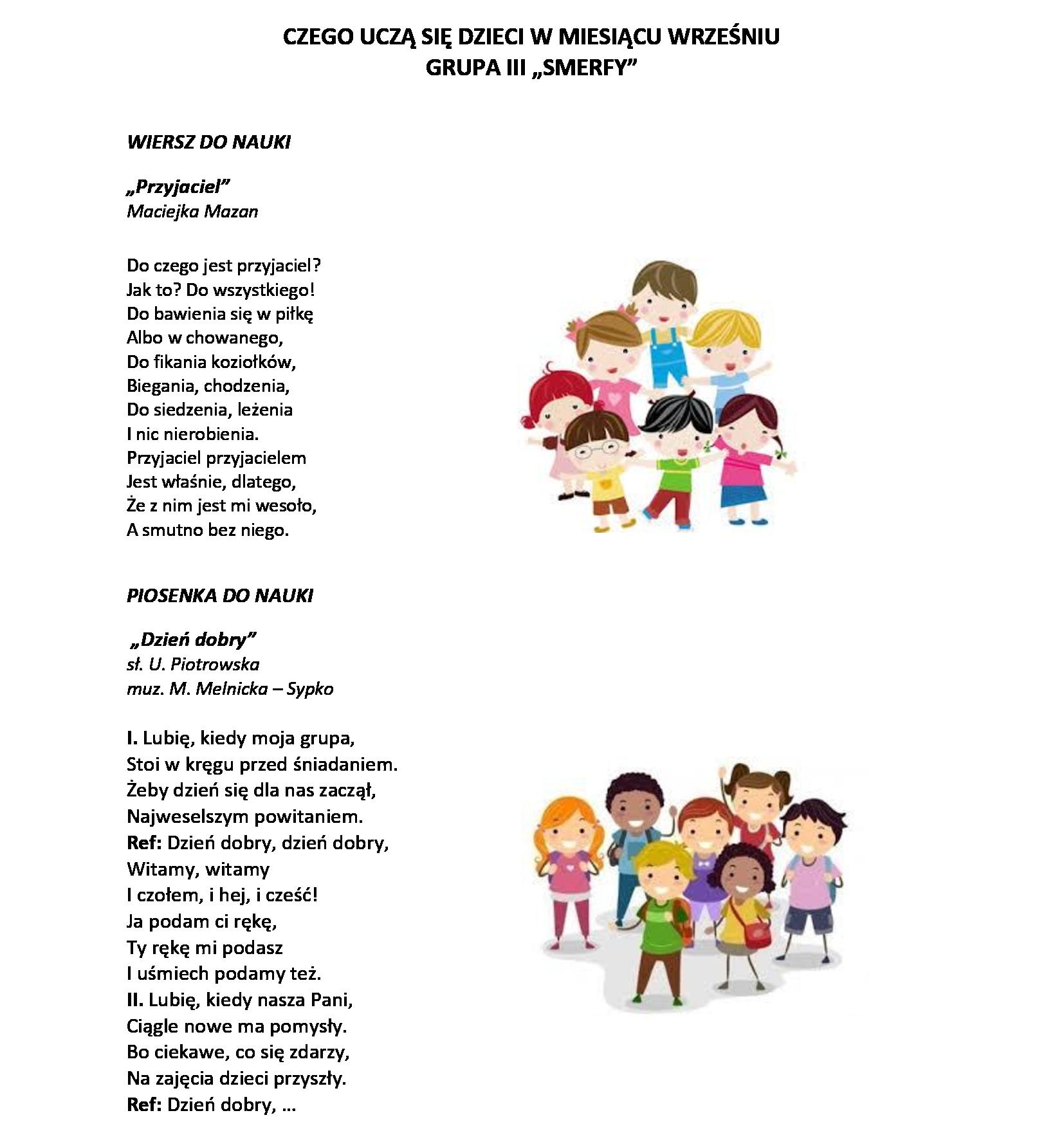Czego Się Dzieci Uczą W Danym Miesiącu Strona Dla Przedszkola